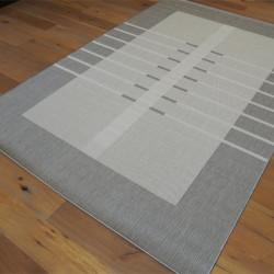 Tapis en corde Encadrement gris et beige - 200x290cm - ESSENZA