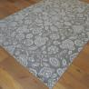 Tapis en corde Fleurs gris clair - 200x290cm - ESSENZA