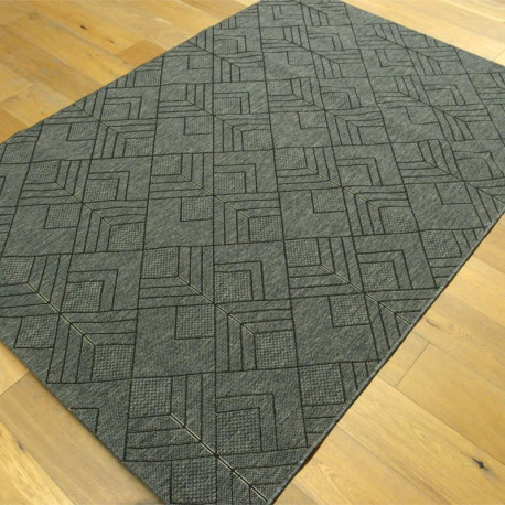 tapis g om trique tiss plat gris fonc 160x230cm essenza. Black Bedroom Furniture Sets. Home Design Ideas