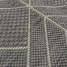 Tapis géométrique tissé à plat gris clair - 160x230cm - ESSENZA