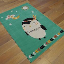 Tapis vert enfant Petit oiseau indien - 120x170cm - CANVAS