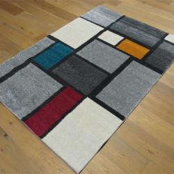 Tapis poil ras géométrique style Mondrian - 120x170cm - SPECTER