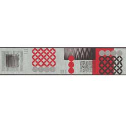 Frise adhésive géométrique rouge et gris - Lutèce