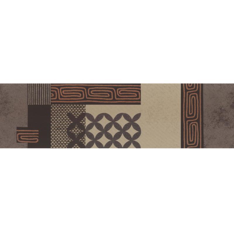 Frise adhésive Ethnique style africain - marron - Lutèce