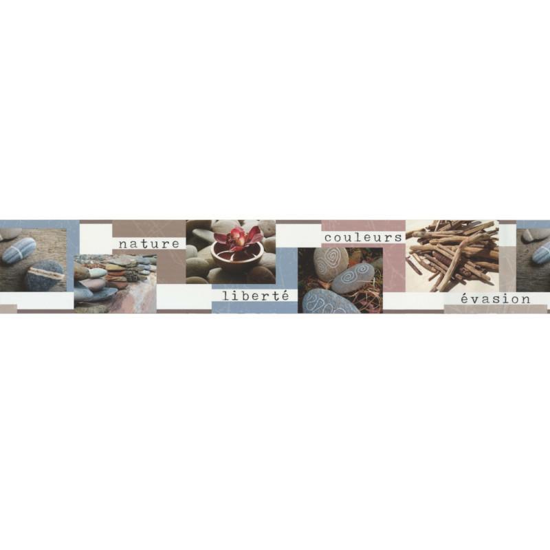 Frise adhésive Evasion nature gris et beige - Lutèce - 27151801-A