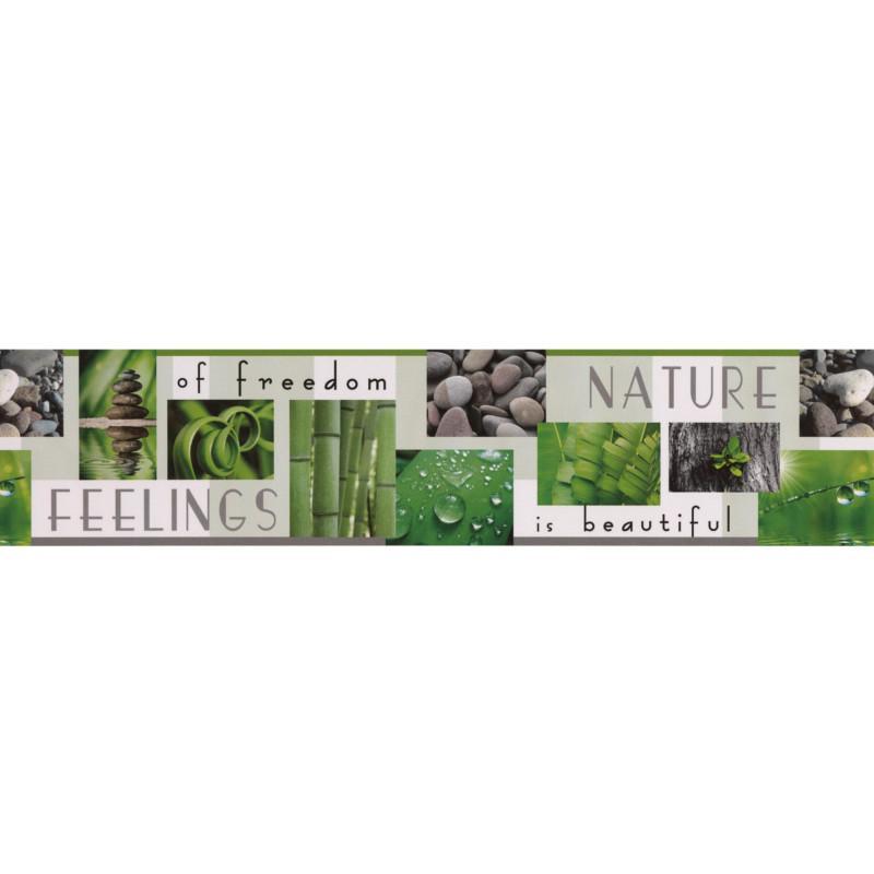 Frise adhésive Nature Feelings - vert - Lutèce
