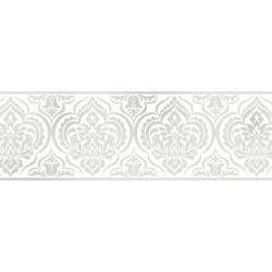 Frise adhésive Médaillon paillette style baroque - blanc - Lutèce