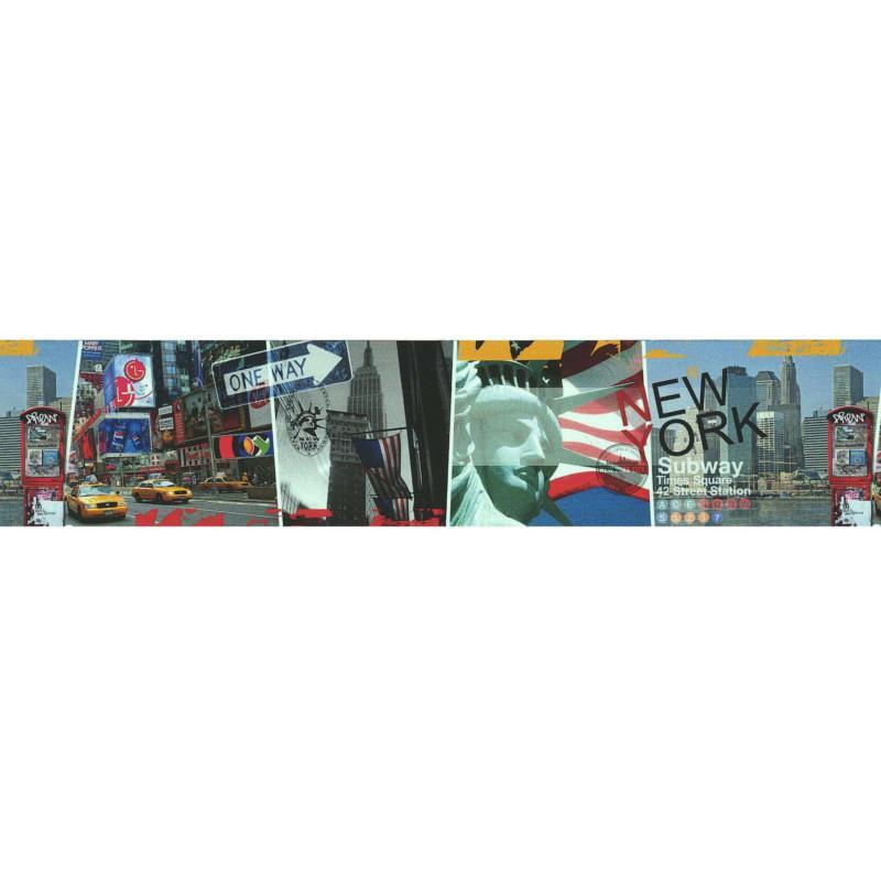 Frise adhésive New York Subway - multicolore - Lutèce