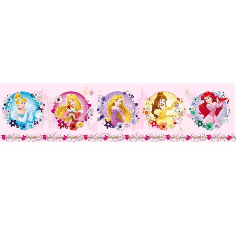 Frise adhésive Princesses Disney - rose - Lutèce
