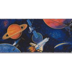 Frise adhésive Planètes et Satellites dans l'Espace - Lutèce