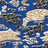 Papier peint duplex Urban Jungle bleu et doré - POPier peint par JC de Castelbajac - Lutèce