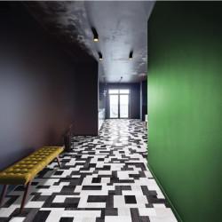 BALTERIO - Parquet Stratifié bois - Xpressions 98 Domino noir et blanc - 8mm