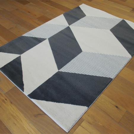 Tapis motif géométrique gris et blanc - 160x230cm - Alaska - BALTA