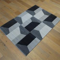 Tapis motif géométrique gris foncé - 120x170cm - Shuffle - BALTA