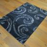 Tapis poil ras Spirales gris moucheté - 140x200cm - SPECTER