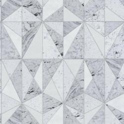 Papier peint géométrique effet marbre gris - Material - Caselio