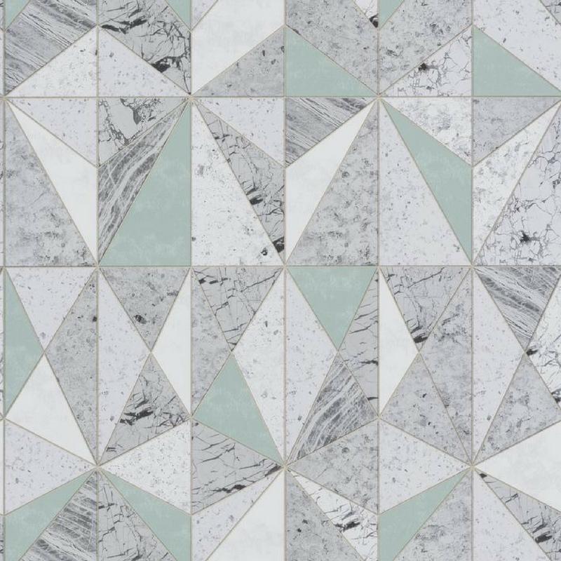 Papier peint Marbre turquoise - MATERIAL - Caselio - MATE69596006