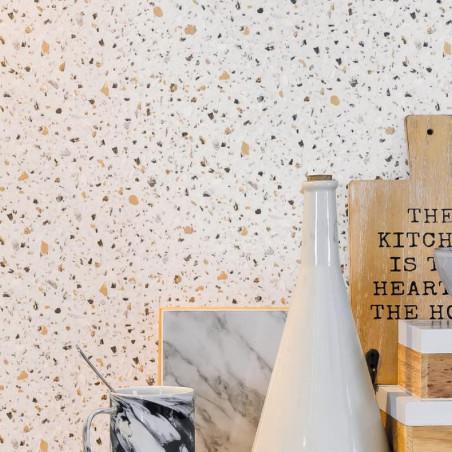 Papier peint Terrazzo gris - Material - Caselio