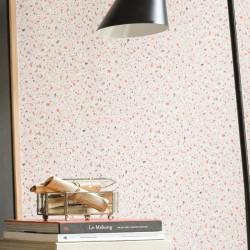 Papier peint Terrazzo orange rose - Material - Caselio