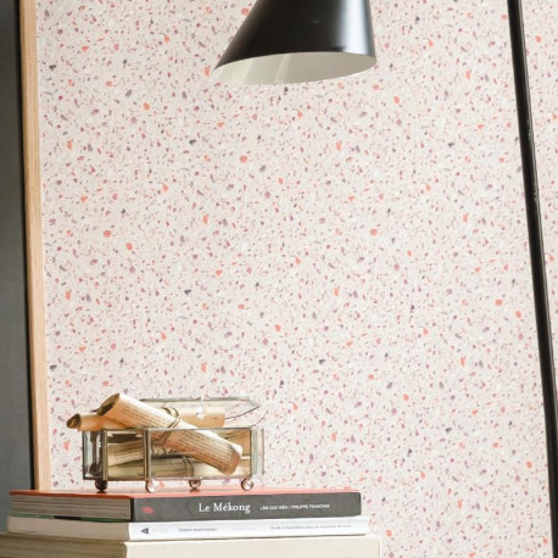 papier peint vinyle intiss terrazzo granit orange material caselio. Black Bedroom Furniture Sets. Home Design Ideas