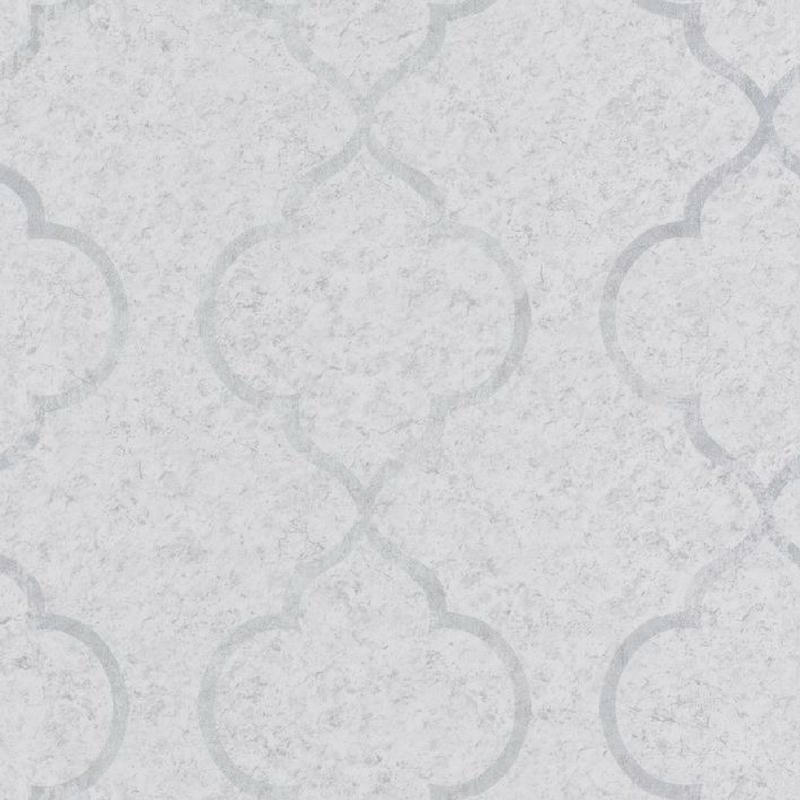Papier peint Ornement gris clair et argenté - MATERIAL - Caselio - MATE69650000
