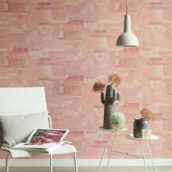 Papier peint Effet Béton rose - MATERIAL - Caselio - MATE69664040