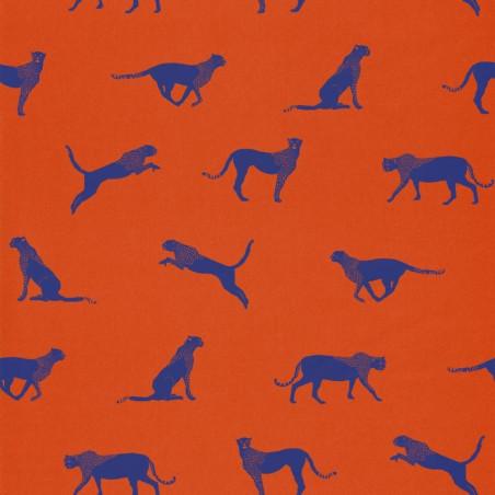 Papier peint guépard rouge - Smile - Caselio
