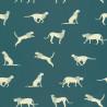Papier peint guépard turquoise - Smile - Caselio