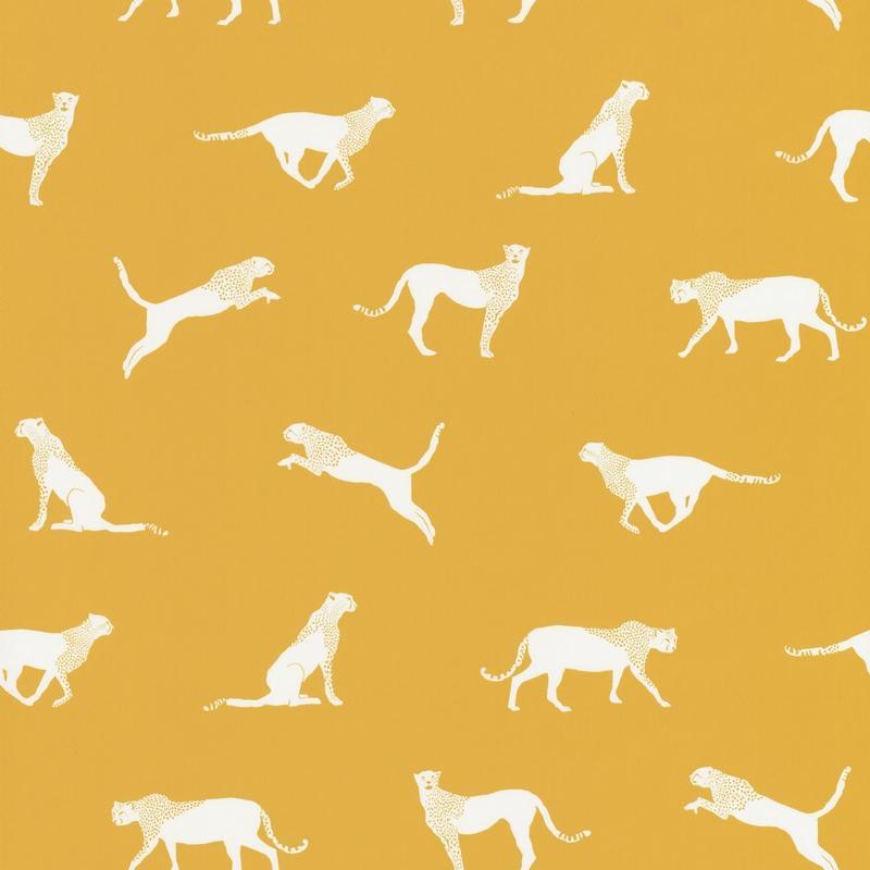 Papier peint Félin Pour l'Autre jaune - SMILE - Caselio - SMIL69742020