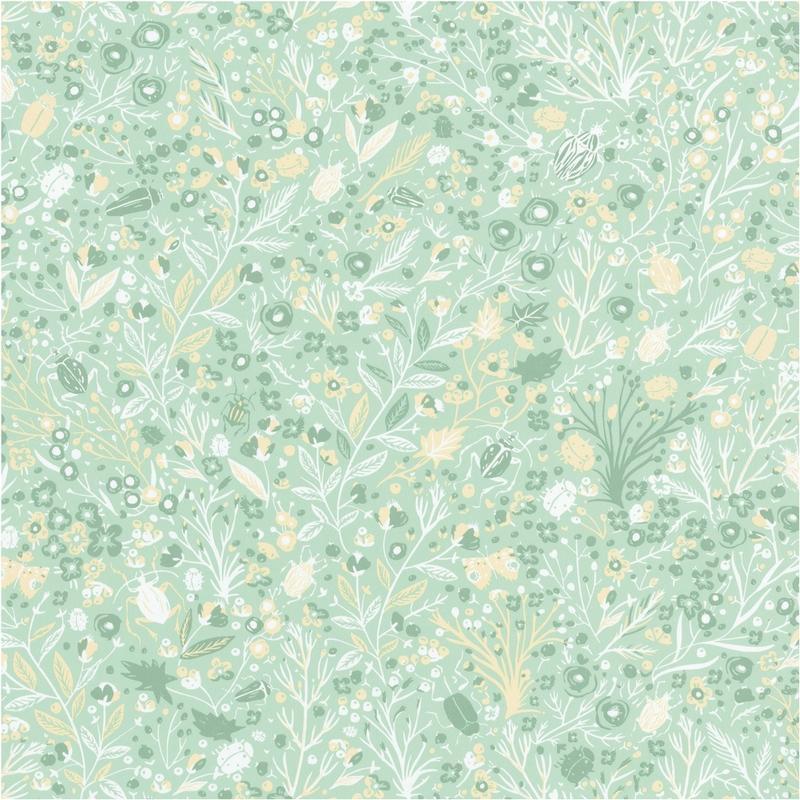 Papier peint 1001 Pattes vert pastel - SMILE - Caselio - SMIL69797232