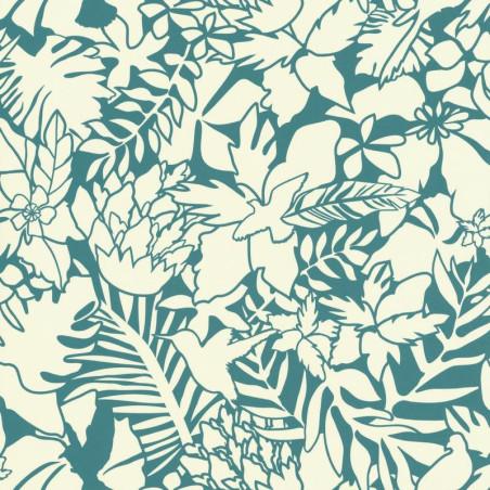Papier peint Jungle turquoise - Smile - Caselio