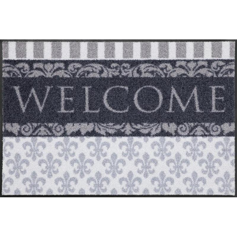 Tapis de propreté - paillasson Welcome gris - EFIA