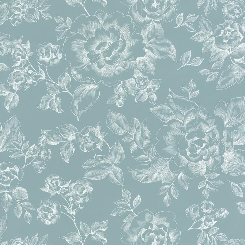 Papier peint A Fleur De Peau bleu - SMILE- Caselio - SMIL69846404