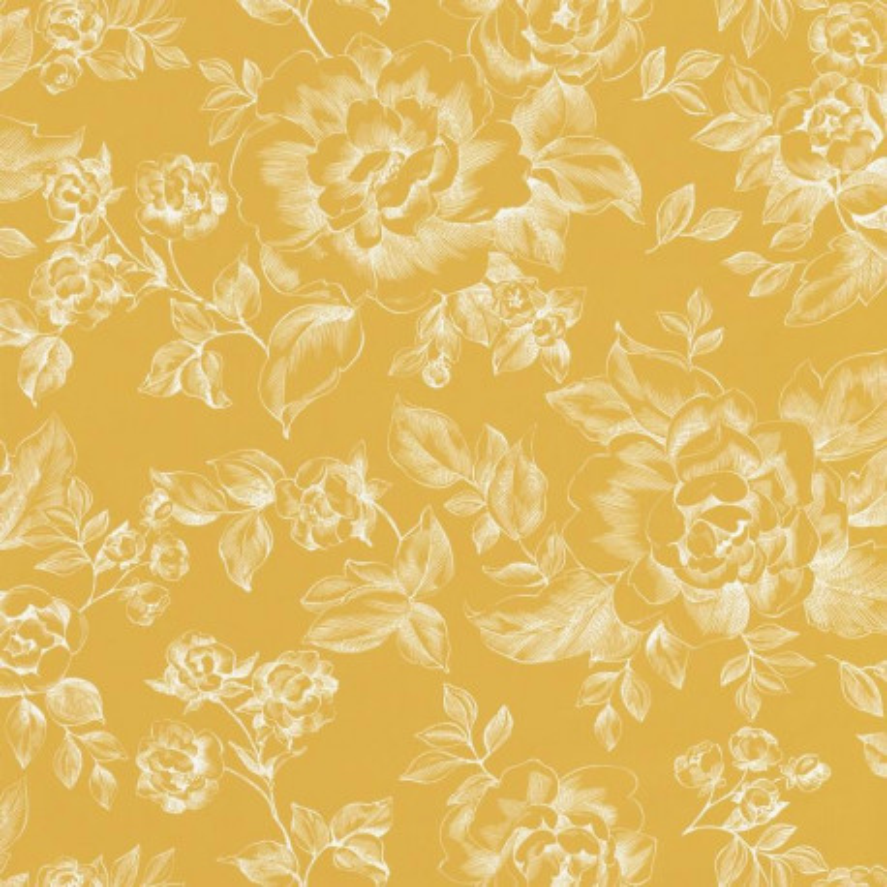 Papier peint floral jaune - Smile - Caselio