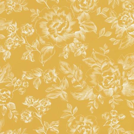 Papier peint A Fleurs De Peau jaune - SMILE - Caselio - SMIL69842505