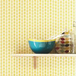 Papier peint Flower Power jaune - SMILE - Caselio - SMIL69782333