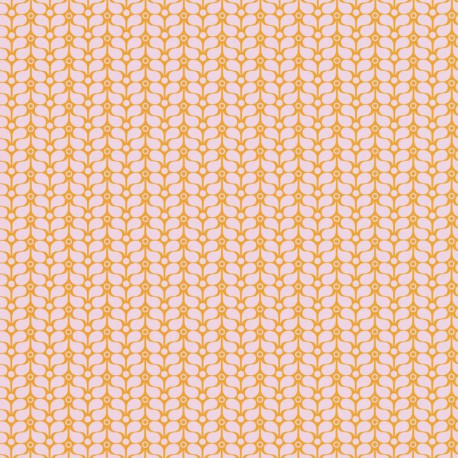 Papier peint Flower Power rose et orange - SMILE - Caselio - SMIL69784505