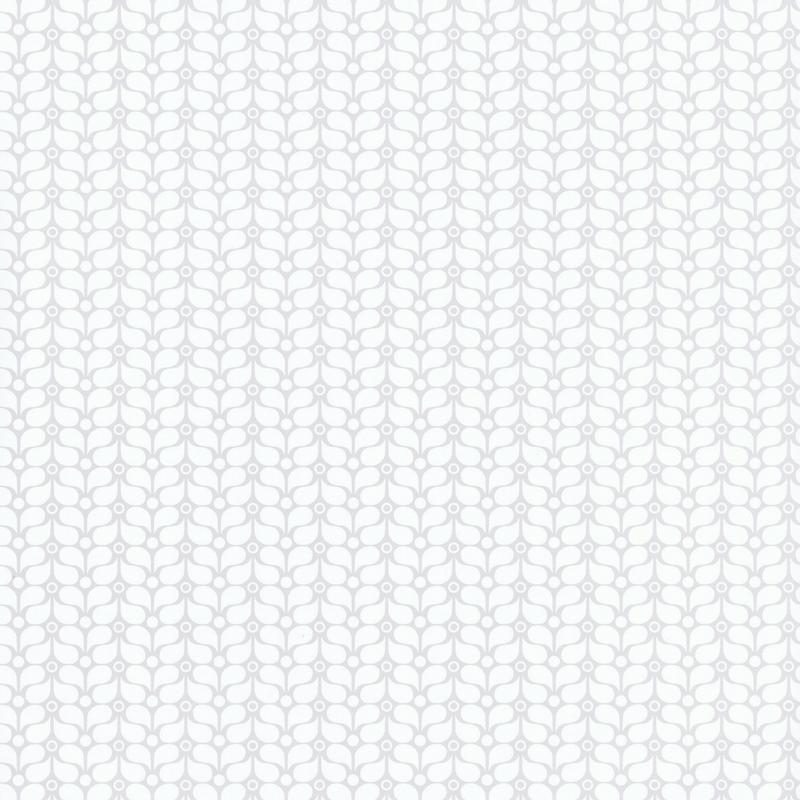 Papier peint Flower Power gris clair - SMILE - Caselio - SMIL69789214