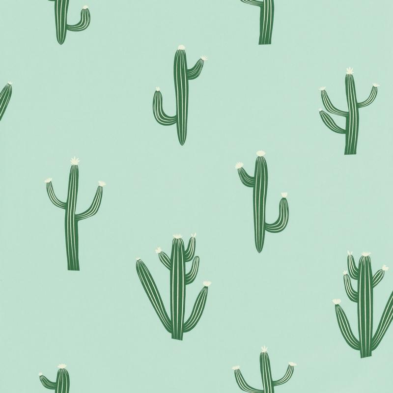 Papier peint cactus vert - Smile - Caselio