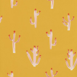 Papier peint Free Hugs jaune moutarde  - SMILE- Caselio - SMIL69752222