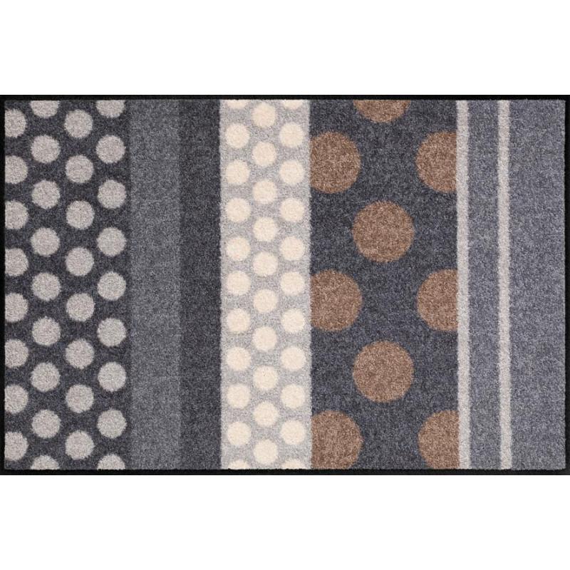 Tapis de propreté - paillasson Glamour Dots gris - EFIA