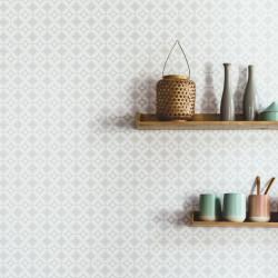 Papier peint Tiens Toi à Carreaux gris clair  - SMILE - Caselio - SMIL69809010