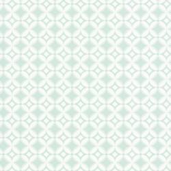 Papier peint carreaux rétro vert pastel - Smile - Caselio