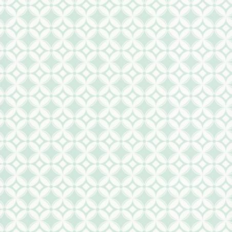 Papier peint Tiens Toi à Carreaux vert pastel - SMILE - Caselio - SMIL69807000