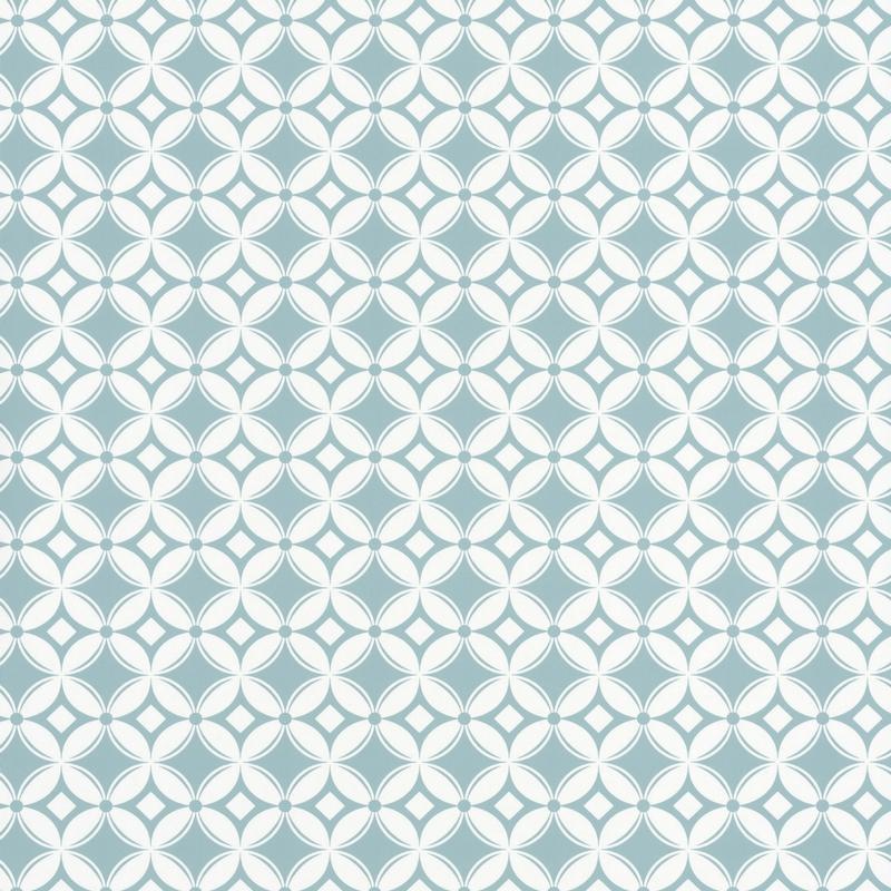 Papier Peint Intisse Carreaux De Ciment Bleu Smile Caselio
