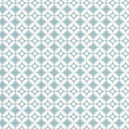 Papier peint carreaux rétro bleu - Smile - Caselio