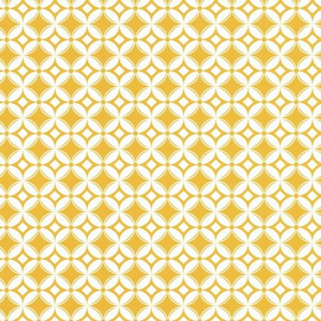 Papier peint Tiens Toi à Carreaux jaune  - SMILE - Caselio - SMIL69802112