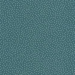 Papier peint à pois bleu canard - Smile - Caselio