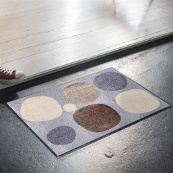 Tapis de propreté - paillasson Broken Dots nature gris - EFIA
