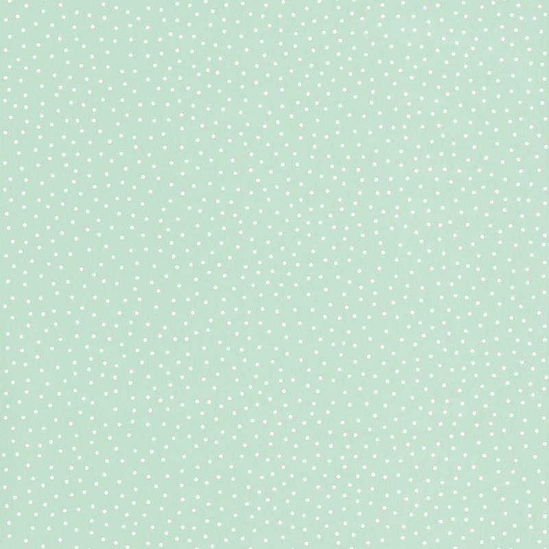 Papier peint Les P'tits Pois vert d'eau - SMILE - Caselio - SMIL69727212